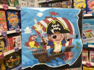 20 Serviettes Captain Pirate
