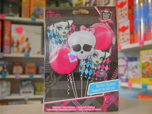 5 Ballons Hélium Monster High