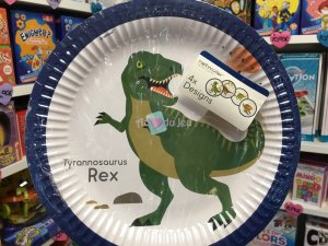 8 Assiettes Happy Dino