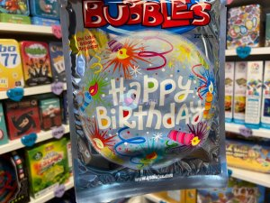 Ballon Bubbles Happy Birthday Bougies