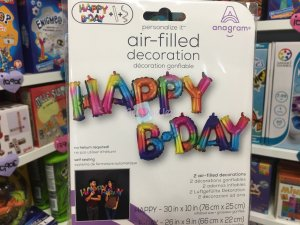 Ballon Lettres Happy Birthday Multicolore