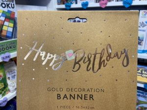 Bannière Happy Birthday Gold