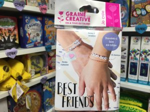 Kit Bracelets Perles Alphabet Best Friend