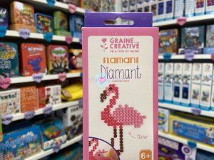 Kit Diamond Mosaique Sticker - Flamant Rose