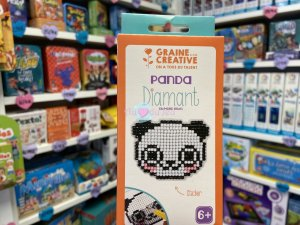 Kit Diamond Mosaique Sticker - Panda