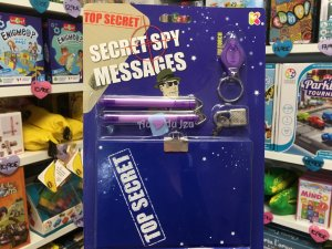 Kit Message Secret Bleu