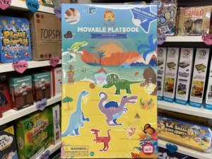 Livre Stickers Repositionnables Dino