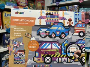 Pixelation Art Transports