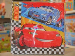 20 Serviettes Cars Flash McQueen