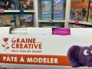 Set Pâte à Modeler Blanc Rose Orange Violet