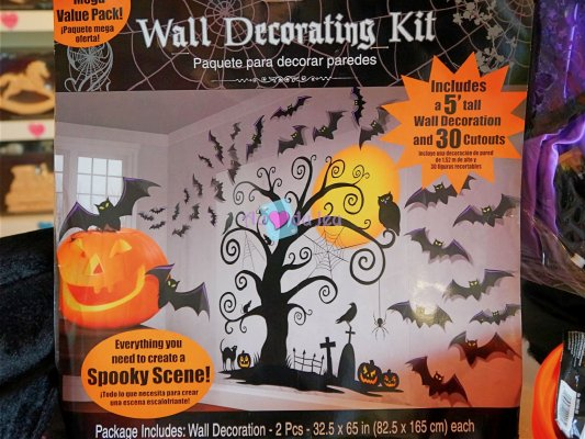Kit d coration murale halloween au coeur du jeu for Decoration murale halloween