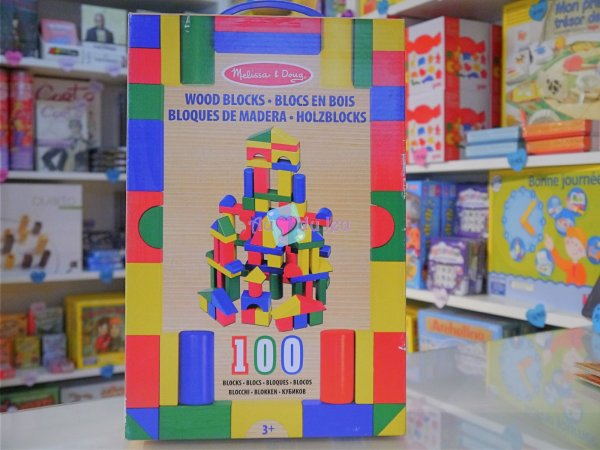 100 Blocs de Construction en bois Melissa & Doug