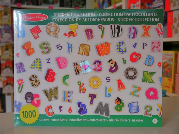 1000 autocollants stickers lettres alphabet APLI Kids