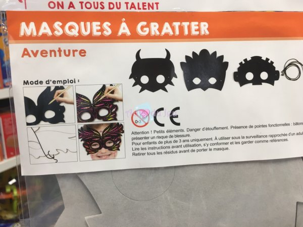 3 Masques A Gratter Aventure
