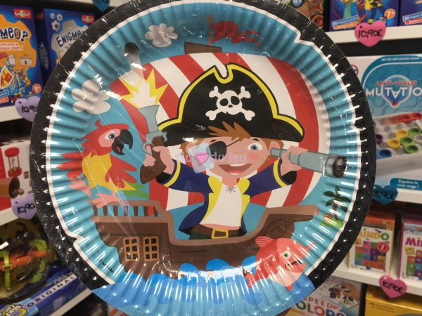 8 Assiettes Captain Pirate