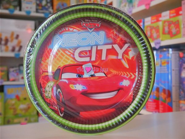 8 Assiettes Cars Flash McQueen