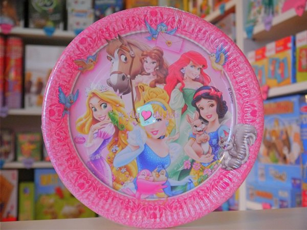 8 Assiettes Princesses Disney