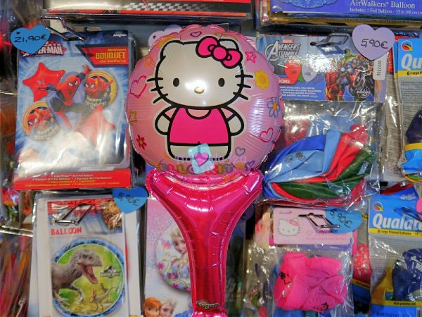 Ballon Sceptre Hello Kitty