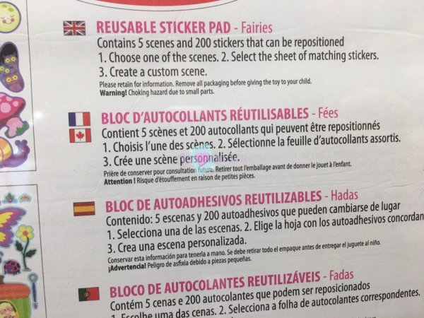 Bloc Autocollants Réutilisables Fees