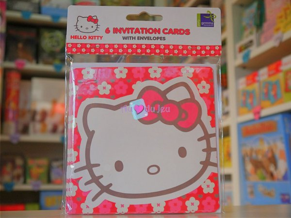 Cartes d'Invitation Anniversaire Hello Kitty