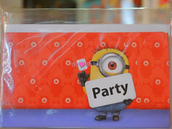8 Cartes Invitations Minions