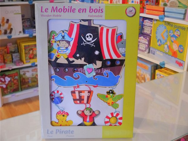 Mobile Pirate en bois Ulysse