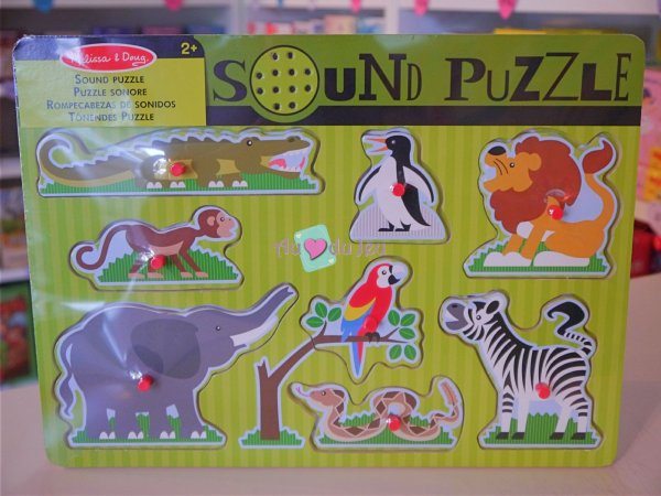 Puzzle Sonore Animaux du Zoo