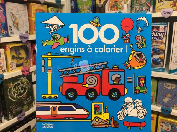 100 Images à Colorier Engins Editions Lito