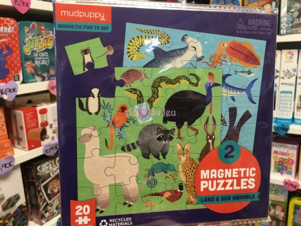 2 Puzzles Magnétiques Animaux Mudpuppy