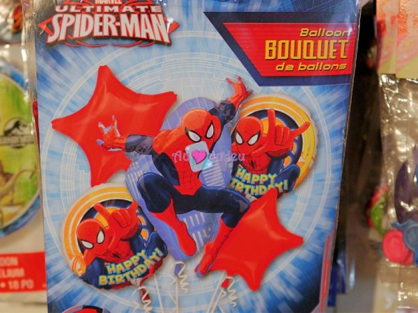 5 Ballons Hélium Spiderman
