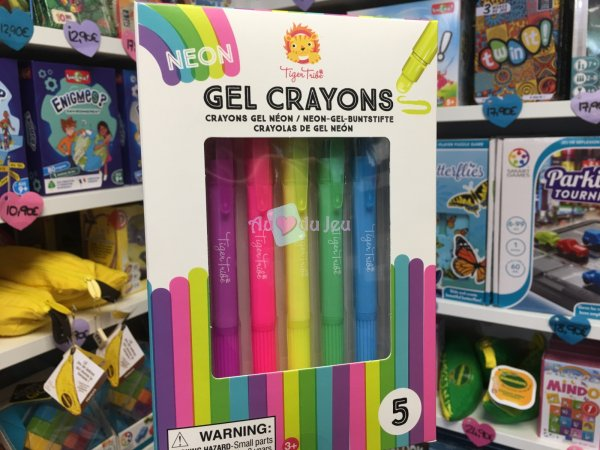 5 Crayons Gel Fluo Tiger Tribe
