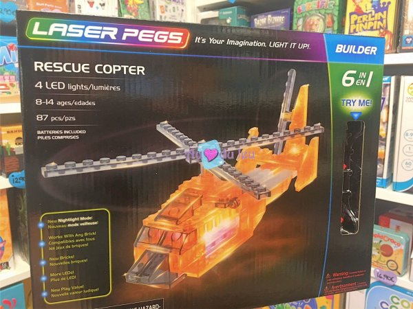 6 In 1 Helicopter - 87 Pièces Laser Pegs
