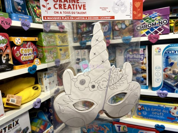 6 Masques en Carton Licorne Graine Creative