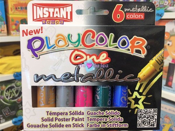 6 Sticks Gouache Solide Metallic Graine Creative