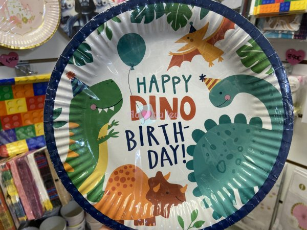 8 Assiettes Dino Party