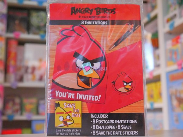 Cartes Invitation Angry Birds