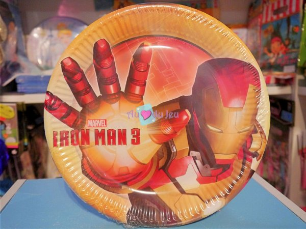 8 Assiettes Iron Man