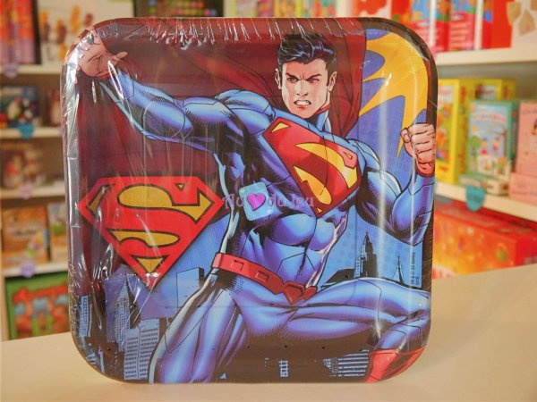 8 Assiettes Superman