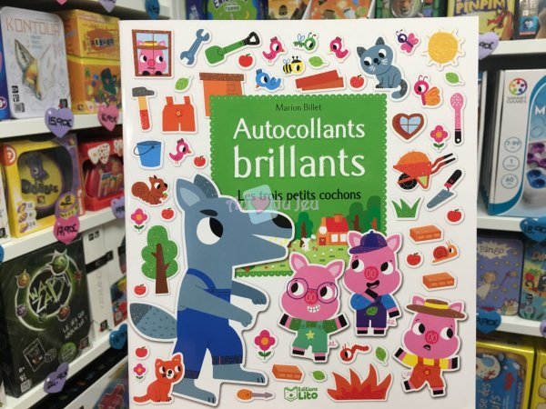 Autocollants Brillants 3 Petits Cochons Editions Lito