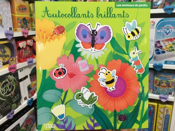 Autocollants Brillants Animaux Jardin Editions Lito