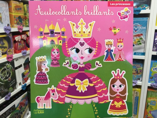 Autocollants Brillants Princesses Editions Lito