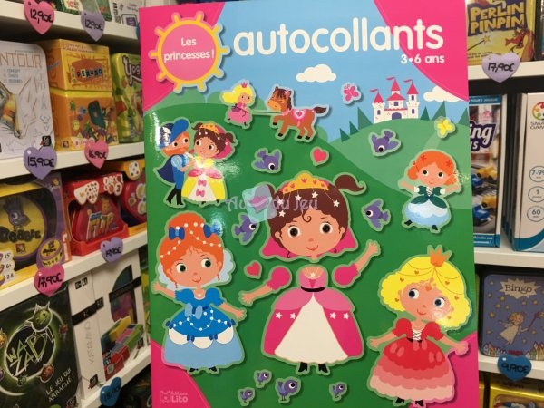 Autocollants M'amuse Princesses Editions Lito