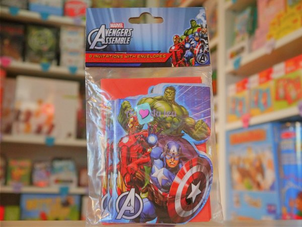 Cartes Invitations Avengers