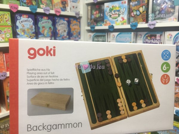Backgammon en Bois Goki