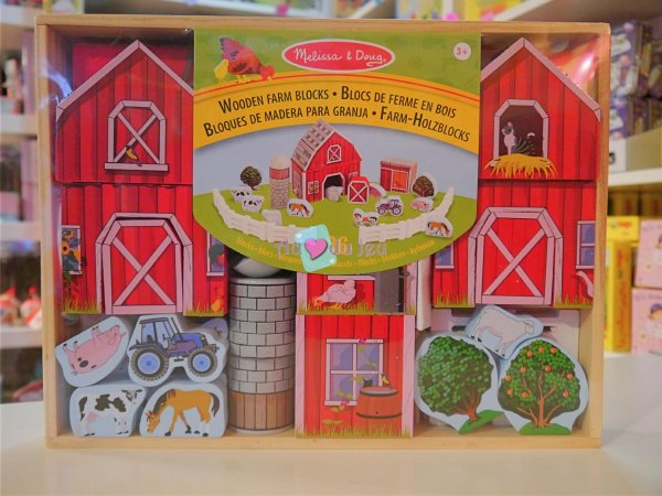Blocs de Construction Ferme en bois Melissa & Doug