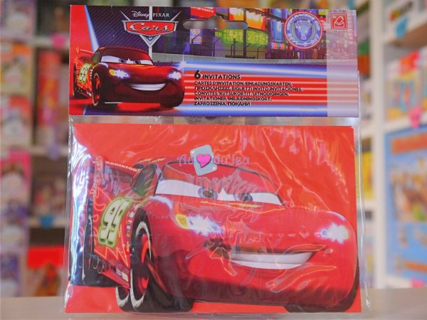Cartes d'Invitation Anniversaire Cars