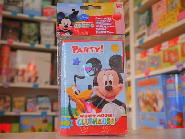 Cartes d'Invitation Anniversaire Mickey