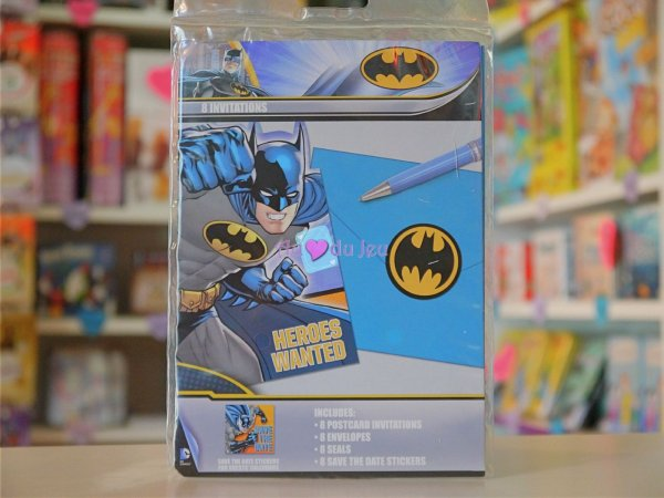 Cartes Invitation Batman