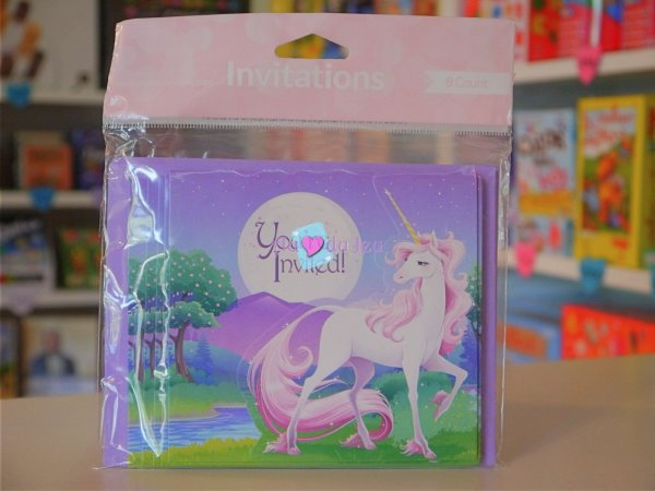 Cartes Invitation Licorne