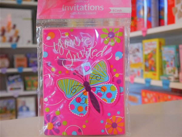 Cartes Invitation Papillons